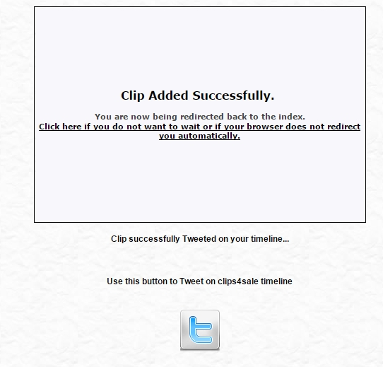 promotion of the clipstore through twitter