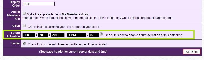 Schedule your updates